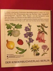 Gartenbuch Rückseite